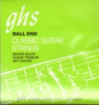 GHS 2050W Silver Alloy Ball End Classical Guitar Strings