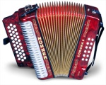 Hohner 3523AR Corona II Classic A-D-G Pearl Red Accordion