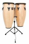 LP Aspire LPA646-AW 10 & 11 Conga Set with Stand (Natural/Black)