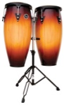 LP Aspire LPA646-RW 10 & 11 Conga Set with Stand (Vintage Sunburst)
