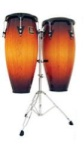 LP Aspire LPA647-VSB 11 & 12 Conga Set with Stand (Vintage Sunburst)