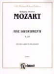 5 Divertimenti, K. Anh. 229 - 2 Clarinets and Bassoon
