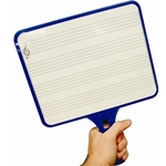 Whiteboard Paddle with Music Staves, Set of 12
