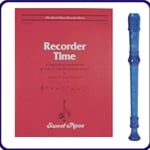 Blue Cantos Recorder & Recorder Time Book