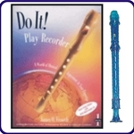 Blue Candy Apple Recorder & Do It Recorder Book/CD