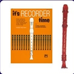 Red Candy Apple Recorder & It's Recorder Time Book