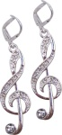 Crystal G Clef Earrings