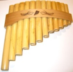Bamboo Curved Panpipes 1.5 Octaves Key of C