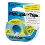 3 Line Yellow Highlighter Tape