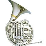 Hans Hoyer Professional Double French Horn Nickel Detatchable Bell w/ Mechanical Linkage