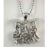 Drums Rhinestone Necklace
