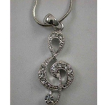 Clef Rhinestone Necklace