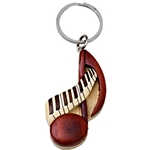 Hand Made Wood Note Key Chain