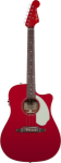 Fender Sonoran SCE, Cutaway Electric, Candy Apple Red, Solid Spruce