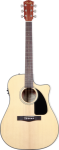 Fender CD-60-CE Dreadnought Acoustic-Electric, Natural w/Hard Case