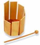 Wood Stirring Drum w/Mallet