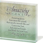 Amazing Grace Glass Square