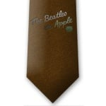 Beatles On Apple Brown Tie