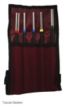 Grover TB-TD Deluxe Tubular beater set (6pc) w/ case