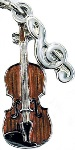 Charm/Zipper Pull - Violin