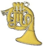 Charm/Zipper Pull - French Horn