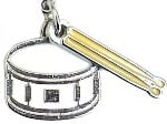 Charm/Zipper Pull - Snare Drum