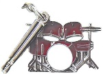 Charm/Zipper Pull - Drum Set