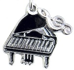 Charm/Zipper Pull - Grand Piano