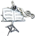 Charm/Zipper Pull - Music Stand