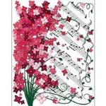 Floral Sheet Music Boxed Cards
