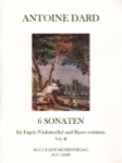 6 Sonatas, Volume 2  - Bassoon (or Cello) and Piano