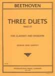 3 Duets, WoO 27 - Clarinet and Bassoon