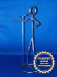 Vocal Standing Mic Stickman Sculpture