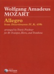 Allegro from Divertimento No. 4, K. 439b - Trumpet, Horn and Trombone