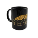 3D Keyboard Mug Black and Gold