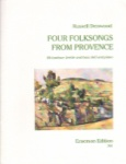 4 Folksongs from Provence - Baritone (T.C. and B.C.)  and Piano