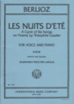 Les Nuits d'Ete - High Voice and Piano