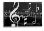 Black with White Music Notes Eraser