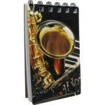 Violin, Sax and Keyboard 3D Notepad