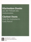 Clarinet Duets from the Instrument's Early Period