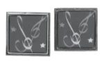 Black Clefs and Stars Cuff Links