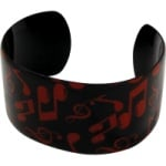 Black with Red Notes Bracelet