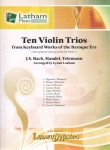 10 Violin Trios (with optional Viola and Cello)