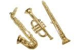 3D Gold Instruments Wall Decor