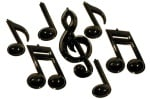 Black 3D Plastic Music Notes