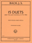 15 Duets after Two-Part Inventions, S. 772-786 - Violin and Viola Duet