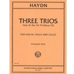 3 Trios, Hob. XI: Nos. 74-76 (Op. 32) - Violin, Viola and Cello (Parts)