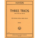 3 Trios, Hob. Xvi: Nos. 40-42  - Violin, Viola and Cello (Parts)