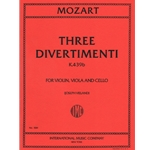 3 Divertimenti, K 439b - Violin, Viola and Cello (Parts)