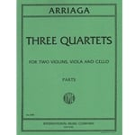 3 Quartets - Two Violins, Viola and Cello (Parts)